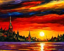 Mẫu tranh sơn dầu làng quê Châu Âu: 010TCA