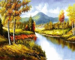 Mẫu tranh sơn dầu làng quê Châu Âu: 014TCA