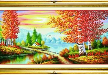 Mẫu tranh sơn dầu làng quê Châu Âu: 016TCA