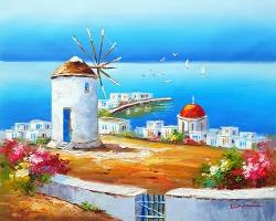 Mẫu tranh sơn dầu làng quê Châu Âu: 019TCA