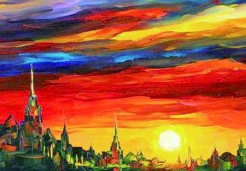 Mẫu tranh sơn dầu làng quê Châu Âu: 029TCA