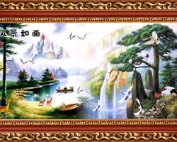 Mẫu tranh sơn dầu làng quê Châu Âu: 035TCA