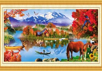 Mẫu tranh sơn dầu làng quê Châu Âu: 042TCA