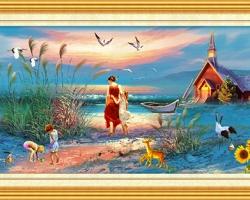 Mẫu tranh sơn dầu làng quê Châu Âu: 048TCA