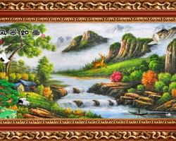 Mẫu tranh sơn dầu làng quê Châu Âu: 051TCA
