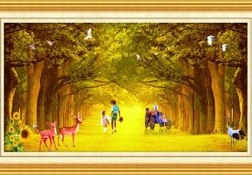 Mẫu tranh sơn dầu làng quê Châu Âu: 052TCA