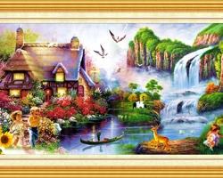 Mẫu tranh sơn dầu làng quê Châu Âu: 053TCA