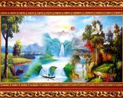 Mẫu tranh sơn dầu làng quê Châu Âu: 056TCA