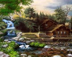 Mẫu tranh sơn dầu làng quê Châu Âu: 058TCA