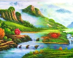 Mẫu tranh sơn dầu làng quê Châu Âu: 060TCA