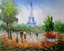 Mẫu tranh sơn dầu làng quê Châu Âu: 061TCA