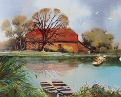 Mẫu tranh sơn dầu làng quê Châu Âu: 064TCA