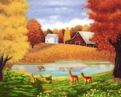 Mẫu tranh sơn dầu làng quê Châu Âu: 066TCA