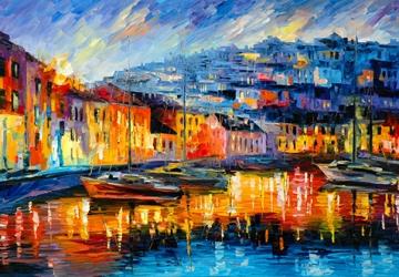 Mẫu tranh sơn dầu làng quê Châu Âu: 071TCA