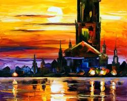 Mẫu tranh sơn dầu làng quê Châu Âu: 073TCA
