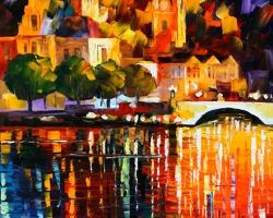 Mẫu tranh sơn dầu làng quê Châu Âu: 079TCA
