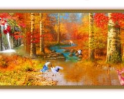 Mẫu tranh sơn dầu làng quê Châu Âu: 091TCA