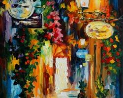 Mẫu tranh sơn dầu làng quê Châu Âu: 094TCA