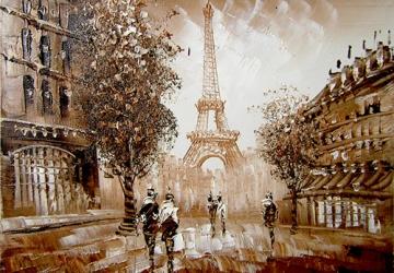 Mẫu tranh sơn dầu làng quê Châu Âu: 095TCA