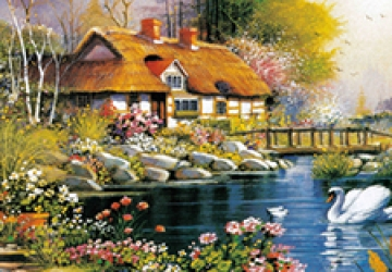 Mẫu tranh sơn dầu làng quê Châu Âu: 096TCA