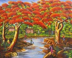 Mẫu tranh sơn dầu làng quê Châu Âu: 097TCA