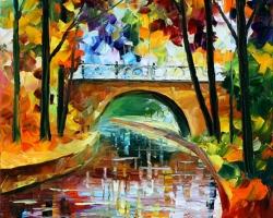 Mẫu tranh sơn dầu làng quê Châu Âu: 108TCA