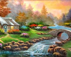 Mẫu tranh sơn dầu làng quê Châu Âu: 114TCA