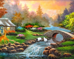 Mẫu tranh sơn dầu làng quê Châu Âu: 116TCA