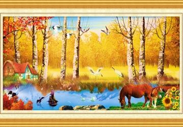 Mẫu tranh sơn dầu làng quê Châu Âu: 119TCA