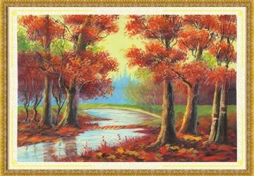 Mẫu tranh sơn dầu làng quê Châu Âu: 125TCA