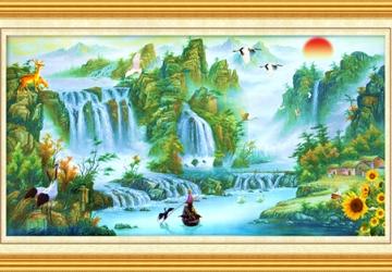 Mẫu tranh sơn dầu làng quê Châu Âu: 126TCA