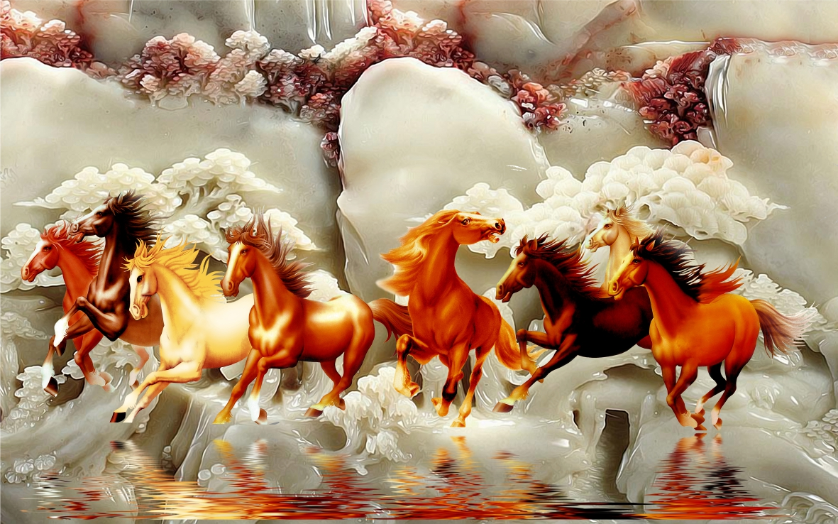 Tranh ngựa dán tường mã đáo thành công