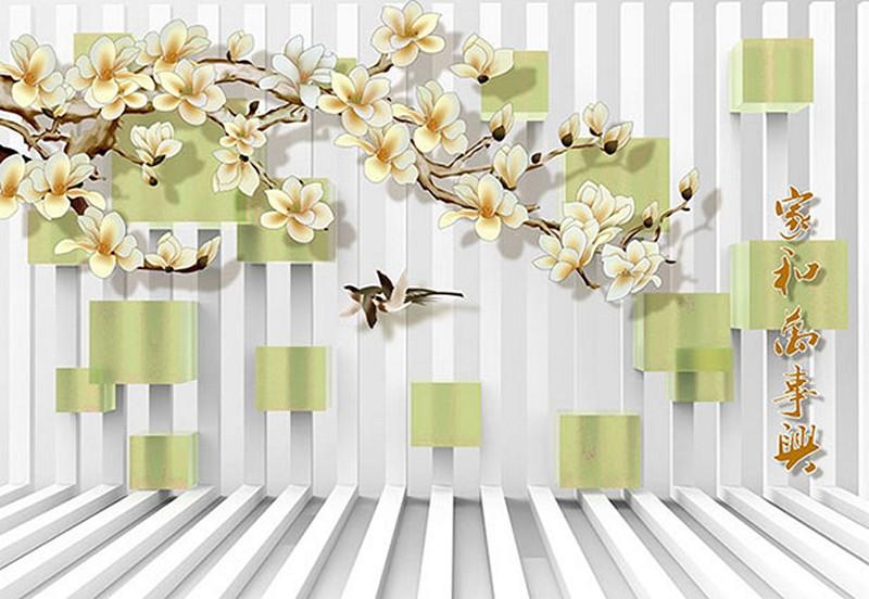 Tranh dán tường phòng khách nhà ống đẹp - Mã: 3D-014-copy